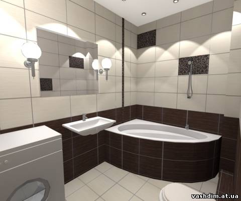 Дизайн ванної кімнати плитка